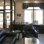lobby area seating and front entrance